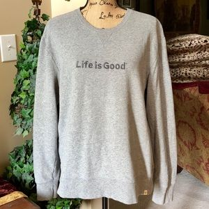 LIFE IS GOOD Classic Fit Grey Sweatshirt size M